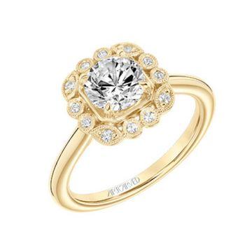 ArtCarved Halo Diamond Engagement Ring