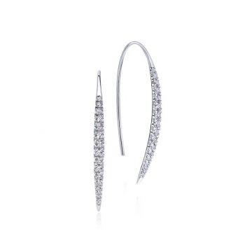 Gabriel & Co. 14k White Gold Kaslique Diamond Drop Earrings