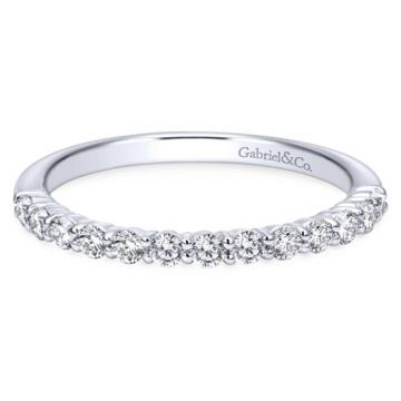 Gabriel & Co. 14k White Gold Diamond Wedding Band