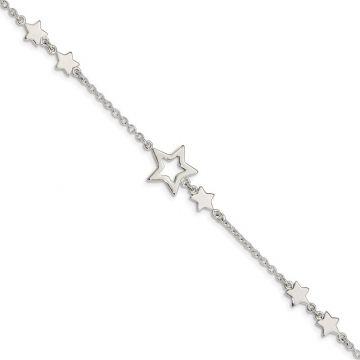 Quality Gold Sterling Silver Star Bracelet