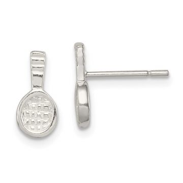 Quality Gold Sterling Silver Tennis Racquet Mini Earrings