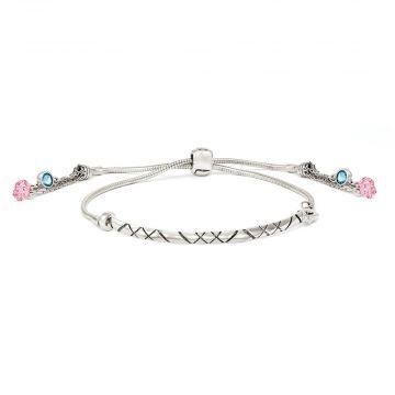 Quality Gold Sterling Silver Swarovski Crystal Briolette Adjustable Bracelet