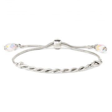 Quality Gold Sterling Silver Swarovski Crystal Tassel Adjustable Bracelet