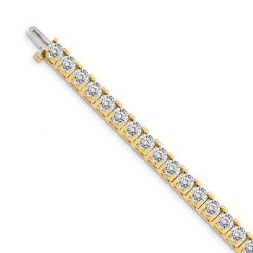 Quality Gold 14k Yellow Gold VS Diamond Tennis Bracelet