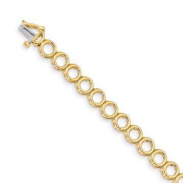 Quality Gold 14k Yellow Gold Add-a-Diamond Tennis Bracelet