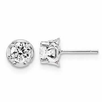 Quality Gold 14K White Gold & Diamond Post Earrings