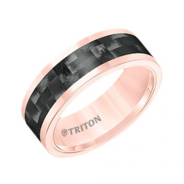 Triton Rose Tungsten Carbide Wedding Band