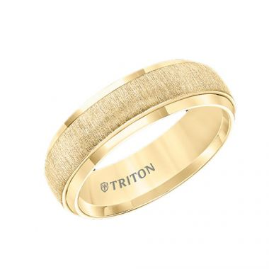 Triton Yellow Tungsten Carbide Wedding Band