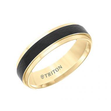 Triton Tungsten Carbide Two Tone Wedding Band