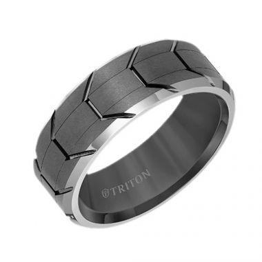 Triton Tungsten Carbide Wedding Band