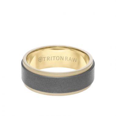Triton Two-Tone 18K Gold Wedding Band