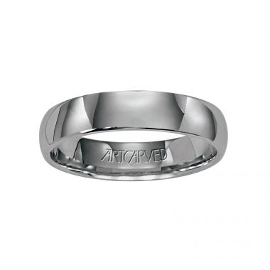 ArtCarved Palladium Low Dome Comfort Fit Wedding Band