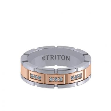 Triton Two-Tone 14K Gold Diamond Wedding Band
