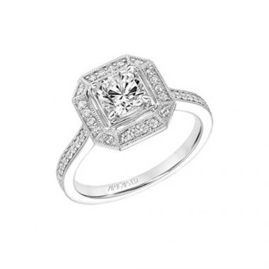 ArtCarved Halo Diamond Engagement Ring