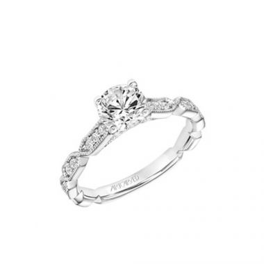 ArtCarved Straight Diamond Engagement Ring