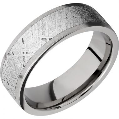 Lashbrook Titanium Meteorite 7mm Men's Wedding Band