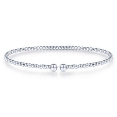 Gabriel & Co. 14k White Gold Bujukan Bangle Bracelet
