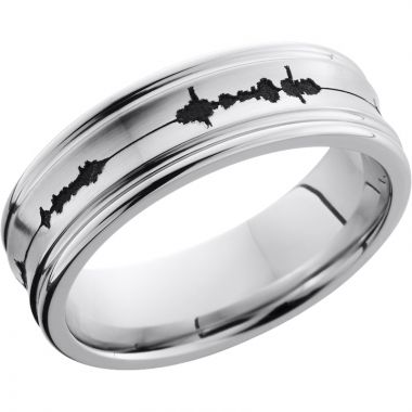 Lashbrook Cobalt Chrome 7mm Men's Wedding Band