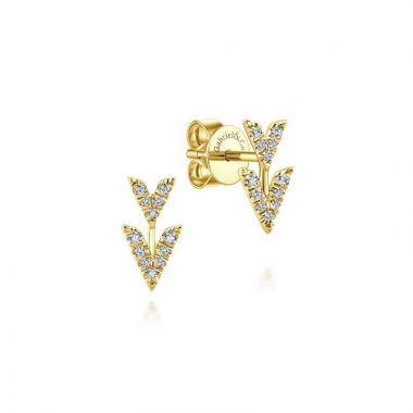 Gabriel & Co. 14k Yellow Gold Kaslique Diamond Stud Earrings