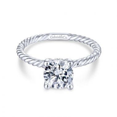 Gabriel & Co. 14k White Gold Hampton Solitaire Engagement Ring
