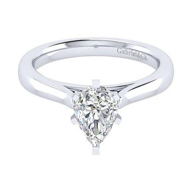 Gabriel & Co 14K White Gold Michelle Solitaire Diamond Engagement Ring