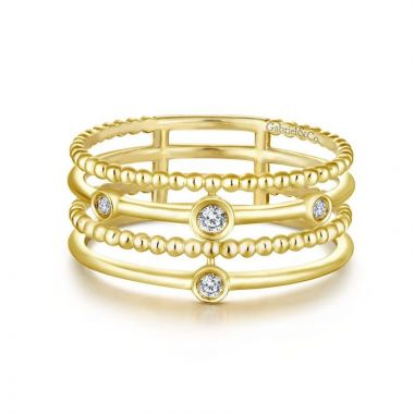 Gabriel & Co. 14k Yellow Gold Constellations Diamond Ring