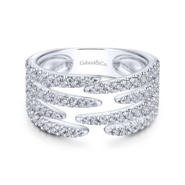 Gabriel & Co. 14k White Gold Kaslique Diamond Ring