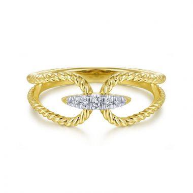 Gabriel & Co. 14k Yellow Gold Hampton Diamond Ring