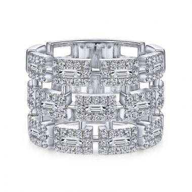 Gabriel & Co. 14k White Gold Lusso Diamond Ring