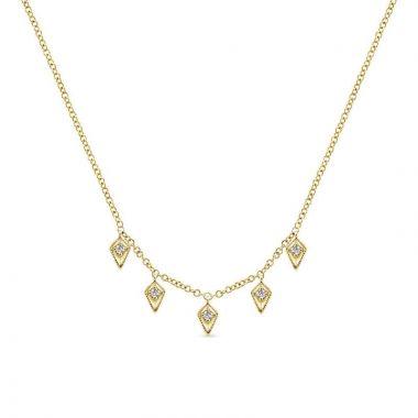 Gabriel & Co. 14k Yellow Gold Kaslique Diamond Necklace