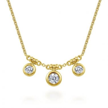 Gabriel & Co. 14k Yellow Gold Lusso Diamond Necklace