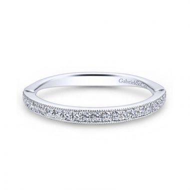 Gabriel & Co. 14k White Gold Victorian Anniversary Wedding Band