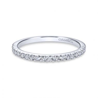 Gabriel & Co. 14k White Gold Contemporary Straight Wedding Band