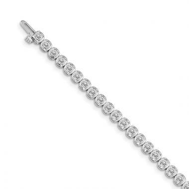 Quality Gold 14k White Gold Diamond Tennis Bracelet