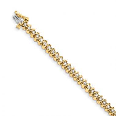 Quality Gold 14k Yellow Gold VS Diamond Tennis Bracelet