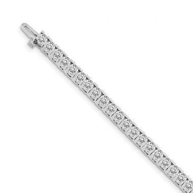 Quality Gold 14k White Gold A Diamond Tennis Bracelet