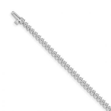 Quality Gold 14k White Gold VS Diamond Tennis Bracelet