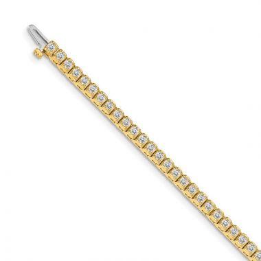 Quality Gold 14k Yellow Gold AA Diamond Tennis Bracelet