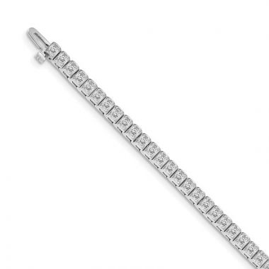 Quality Gold 14k White Gold AAA Diamond Tennis Bracelet