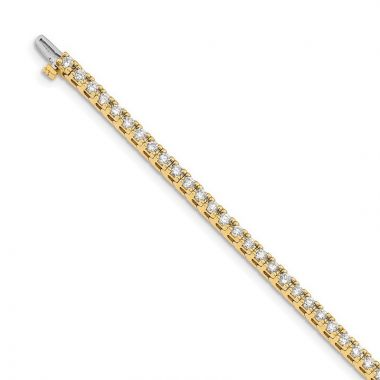 Quality Gold 14k Yellow Gold A Diamond Tennis Bracelet