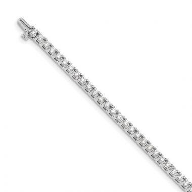 Quality Gold 14k White Gold AA Diamond Tennis Bracelet