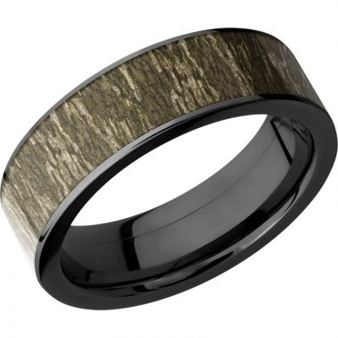 Lashbrook Black Cobalt chrome 7mm Men's Wedding Band