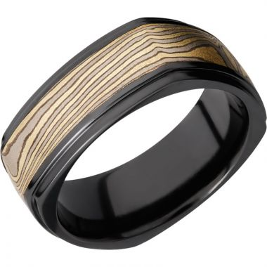 Lashbrook Black Zirconium 8.5mm Men's Wedding Band