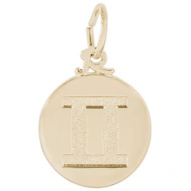 14k Gold Gemini  Charm