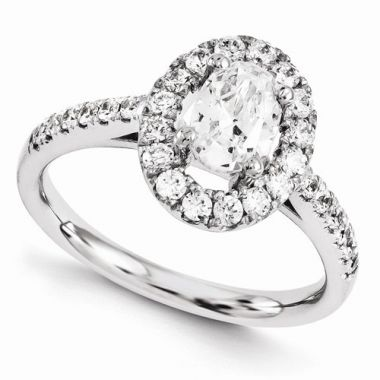 Quality Gold 14k White Gold Diamond Engagement Ring