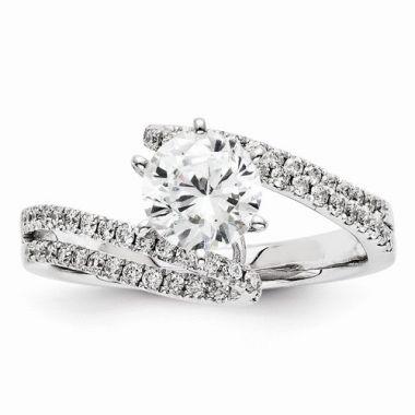 Quality Gold 14k White Gold Diamond Semi-Mount Engagement Ring